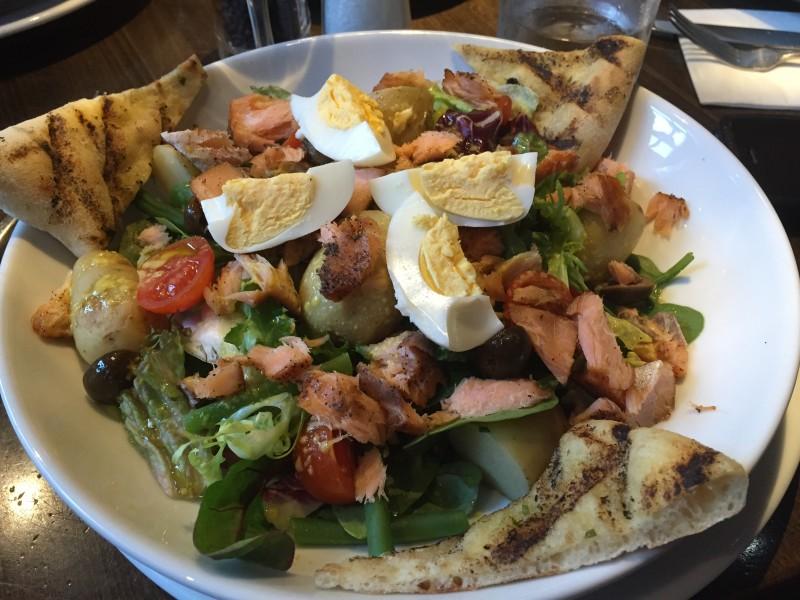Salmon Nicoise salad at Prezzo