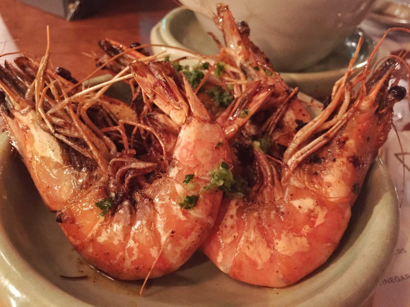 Tiger prawns at Pintura, Leeds