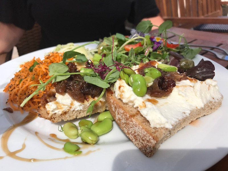 Goats cheese & ricotta at Vineyard Cafe, Sharpham, Devon