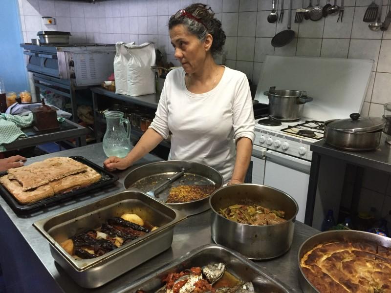 Bioporos owner Agathi in her kitchen