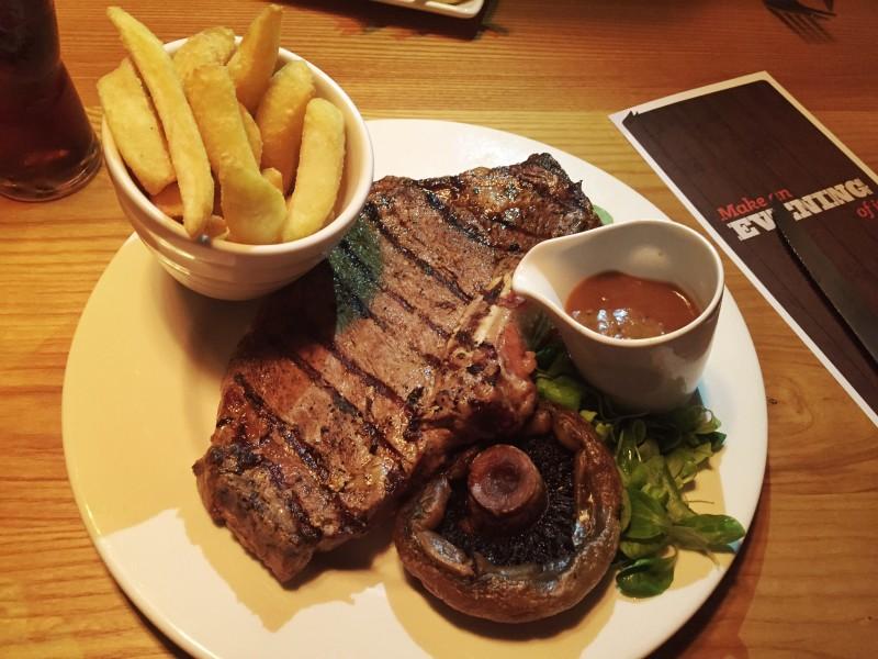 Porterhouse steak at the Griff House Beefeater, Nuneaton