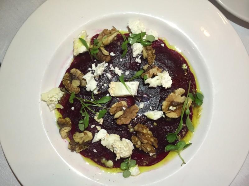 Beetroot salad at Marco's New York Italian