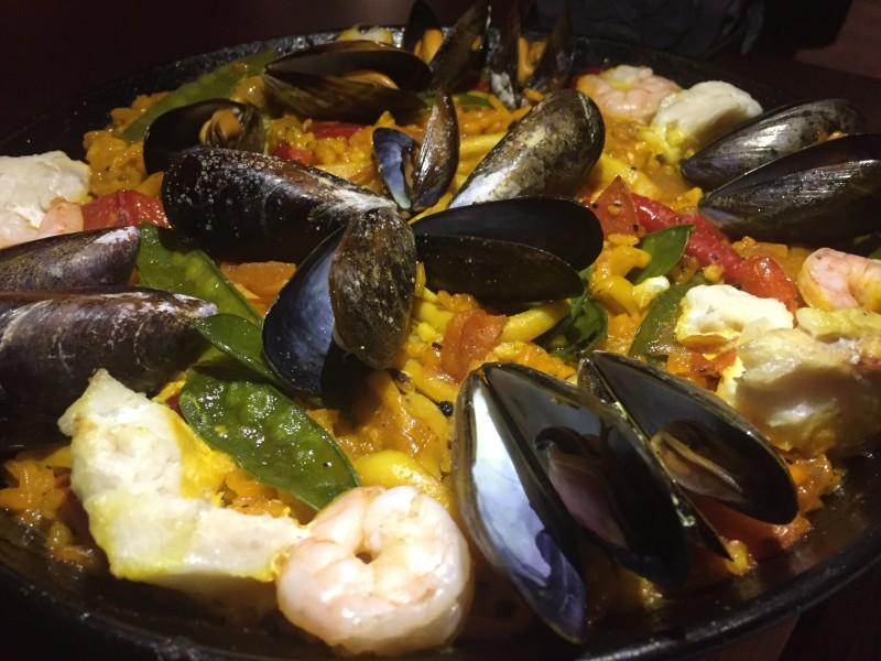 Seafood paella at Amantia, Birmingham
