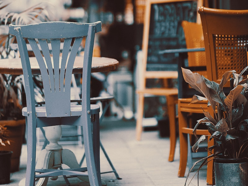 Table and chairs outdoors